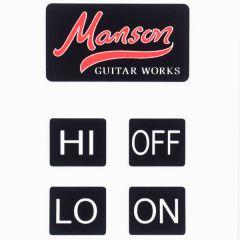 Manson Guitar Works Sustainiac Control Stickers