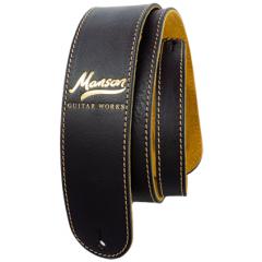Manson Premium Leather Guitar Strap Classic Gold