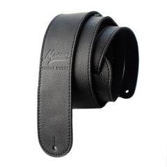 Manson Premium Leather Guitar Strap Black Knight
