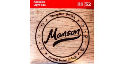 Manson Acoustic Guitar Strings Gauge 11-52 Multi-Pack