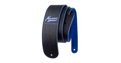 Manson Premium Leather Guitar Strap Bluebell