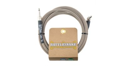 Rattlesnake Standard Instrument Cable Straight to Right Angle Dirty Tweed