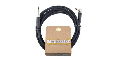 Rattlesnake Standard Instrument Cable Straight to Right Angle Black