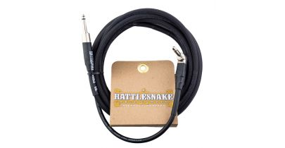 Rattlesnake Snakehead Instrument Cable Straight to Right Angle