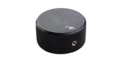 Manson Custom Hardware Control Knob Black Aluminium Solid Shaft