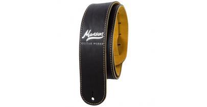 Manson Premium Leather Guitar Strap Classic Silver