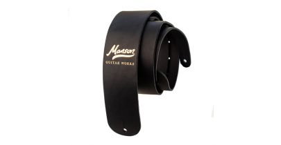 Manson Standard Leather Guitar Strap Gold