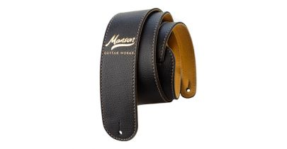 Manson Deluxe Leather Guitar Strap Gold