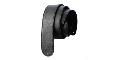 Manson Premium Leather Guitar Strap Black Knight